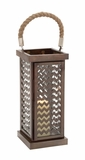 Well Designed Attractive Metal Glass Lantern by Woodland Import