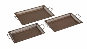 Well Designed Border Attractive Metal Tray - 27498 by Benzara