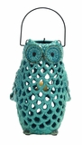 Well Designed Customary Styled Ceramic Owl Lantern by Woodland Import