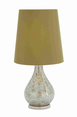 "Well Designed Metal and Glass 25"" Table Lamp with Stunning Finish Brand Woodland"