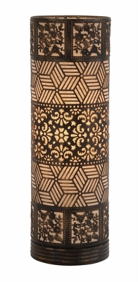 Well Designed Styled Metal Cylinder Table Lamp by Woodland Import