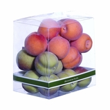 Well Moulded Decorative Small Peaches Gift Box in Red and Green Brand Woodland