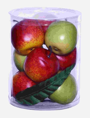 Well Shaped Large Gift Box with Lush Red and Green Apples Brand Woodland