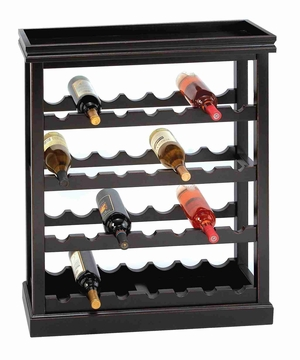 West end Wood Wine Rack Cabinet With Counter Top Brand Woodland