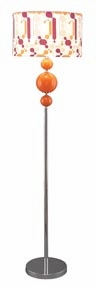 "Wham Contempo Designer Metal Floor Lamp 63"" With Shade Brand Woodland"