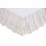 White Boucle Queen Bed Skirt 60x80x16 - VHC Brands 27258