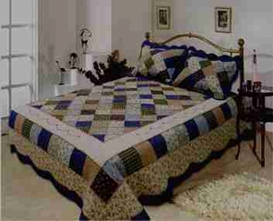 Williamsburg Quilt Luxury Oversize King Size, Cotton Quilt 118x102 Brand Elegant Decor