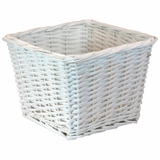 "Willow Basket 10"" x 10"" x 8""H in White by Redmon"