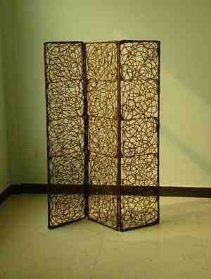 Willow Screen, 3 Panel Willow Screen, 63 Inch L x 72 Inch H Brand Screen Gems