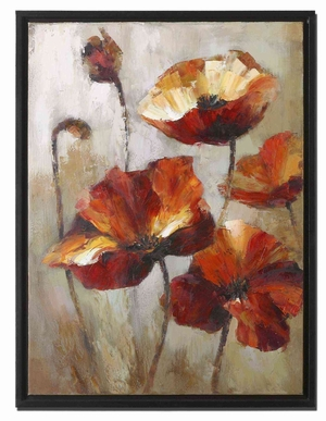 Window View Floral Shadow Box Style Frame Art Brand Uttermost