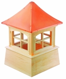 "Windsor Cupola 84"" x 128"" - Cypress Wood and Copper by Good Directions"