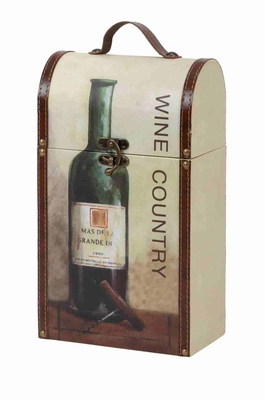 Wine Country Wine Holder and Carrier Box Brand Woodland
