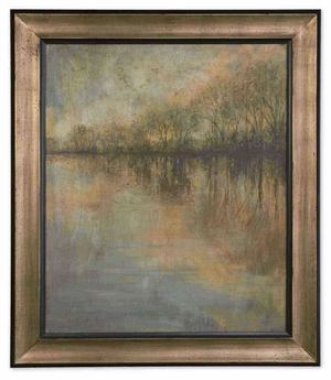 Winter Glow Framed Unique Designed Landscape Art Brand Uttermost