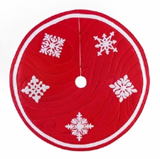 Winter Snowfall Themed Wrap Around Christmas Holiday Tree Skirt Brand C&F