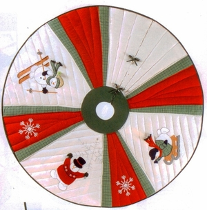 Winter Wonderland Christmas Tree Skirt, 54 Inch Brand C&F