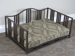 Wonderful Brown Metal Cocoa Swirl Daybed by 4D Concepts