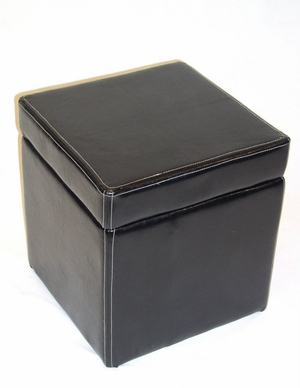 Wonderful Faux Leather Box Ottoman with Lift Top by 4D Concepts
