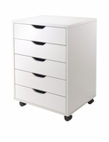Wonderful Five Drawers Halifax White Cabinet For Closet / Office by Winsome Woods