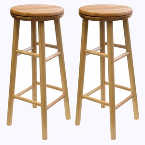 "Winsome Wood Wonderful Sets of Two 30"" Swivel Stool"