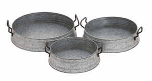 Wonderful Styled Metal Planter Tray by Woodland Import
