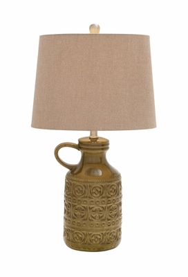 Wonderful Styled Polystone Metal Table Lamp by Woodland Import