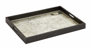 Wonderful Styled Wood Glass Tray by Woodland Import