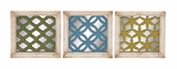 Wonderful Styled Wood Wall Plaque 3 Assorted by Woodland Import