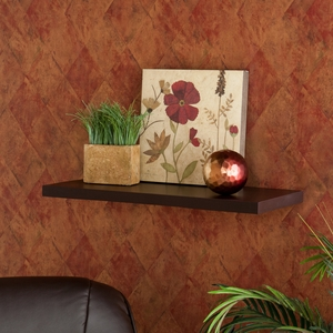 Wonderful Stylized Aspen Floating Shelf Espresso by Southern Enterprises