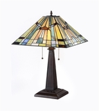 Wonderful Tiffany - Style Creative Mission Table Lamp by Chloe Lighting