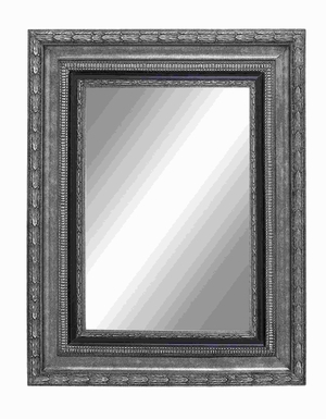 Wood Beveled Mirror with Reminiscent of Regal Charm and Grandiose Brand Woodland