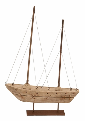 Wood Boat  A Stylish Sail Boat Replica A Popular Nautical Gift Brand Woodland