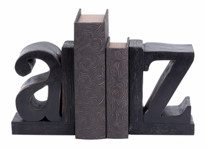 Wood Bookend Pair A & Z Black Bookend Pair Brand Woodland