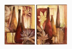 Wood Box Art Crafted with Artistic Detailing - Set of 2 Brand Woodland