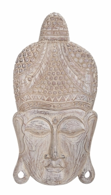 Wood Buddha Head Wall Decor Blends Of Religious Flavor To Room Feel Brand Woodland