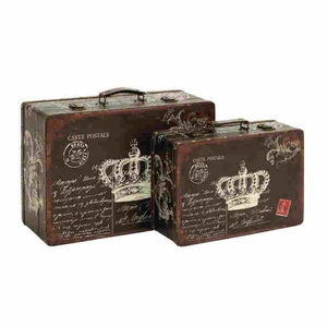 Wood Canvas Case in Queen's Throne White Color Print (Set of 2) Brand Woodland
