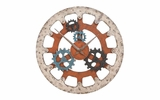 Wood Clock With Seven Gears Unique Wall Decor With Dual Purpose Brand Woodland