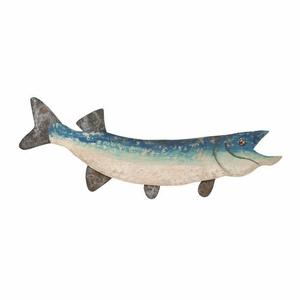 Wood Fish Wall Decor with Attractive Fish Styled Design Brand Woodland