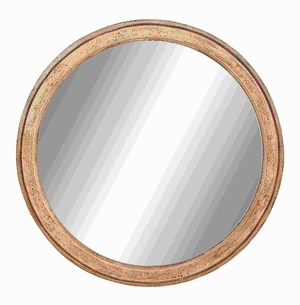 Wood Frame Mirror in Matte Polished with Dull Cream Finish Brand Woodland