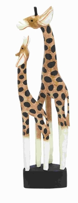 Wood Giraffe with Bright Colors and Remodeled Acute Textures Brand Woodland