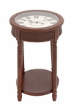 Wood Glass Clock Table by Woodland Import
