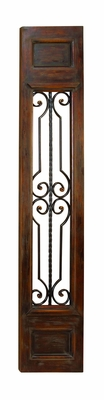 "Wood Iron Wall Decor Sculpture Panel 71""x14"" Brand Woodland"