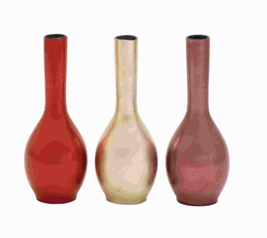 Wood Lacquer Vase Assorted Is Durable Long and Lasting (Set of 3) Brand Woodland