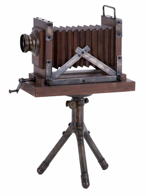 Wood Metal Camera Entertaining Room Decor With Antique Feel Brand Woodland