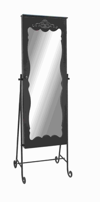 Wood Metal Dressing Mirror in Attractive Curves and Contours Brand Woodland