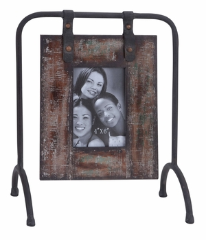Wood Metal Photo Frame Great For Vertically Taken Photograph Brand Woodland