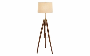 Wood Metal Tripod Floor Lamp An Excellent Festive Gift Brand Woodland
