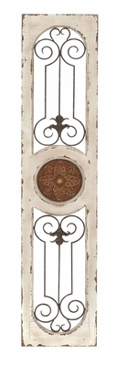 Wood Metal Wall Panel In Shape Of Rectangular Door With Three Parts Brand Woodland