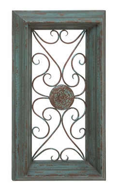 Wood Metal Wall Panel Rectangular With Royal Look Center Plate Brand Woodland