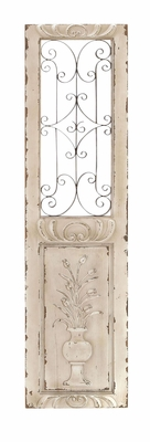 Wood Metal Wall Panel Sculptured In Shape Of Rectangular Door Brand Woodland