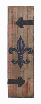 Wood Metal Wall Plaque with Smoothly Finished Wooden Base Brand Woodland